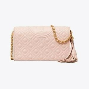 Tory Burch Fleming Quilted Flat Wallet Crossbody